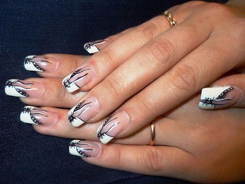 Необычный дизайн ногтей френч новинки 68