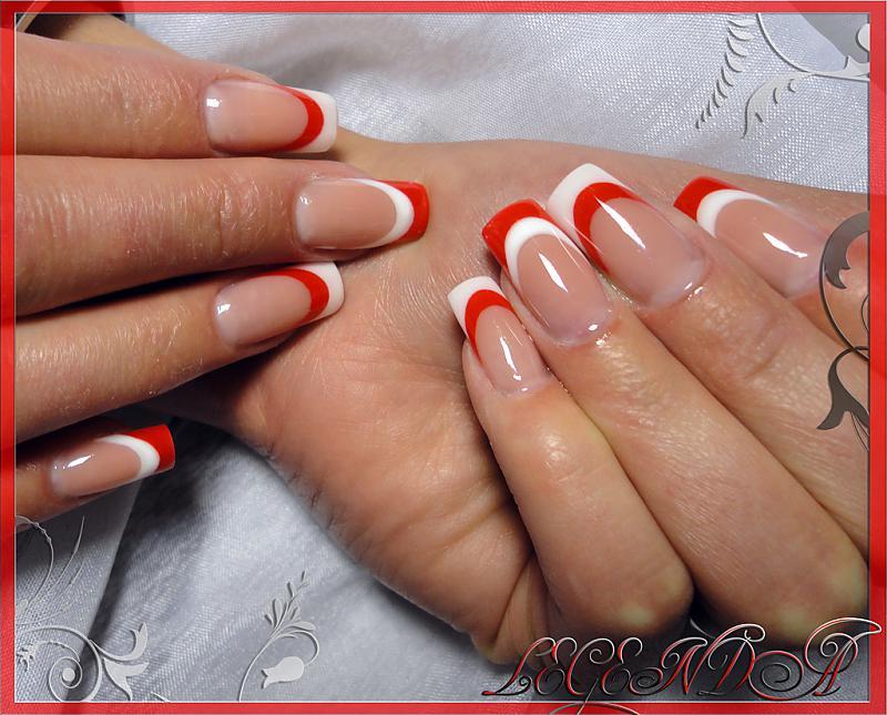 Фото двойной френч на ногтях