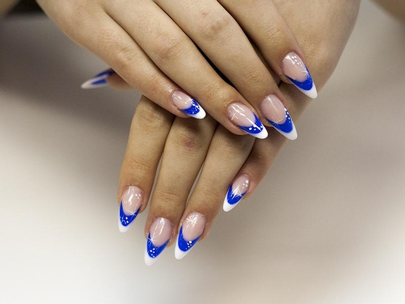 Дизайн ногтей двойной френч фото