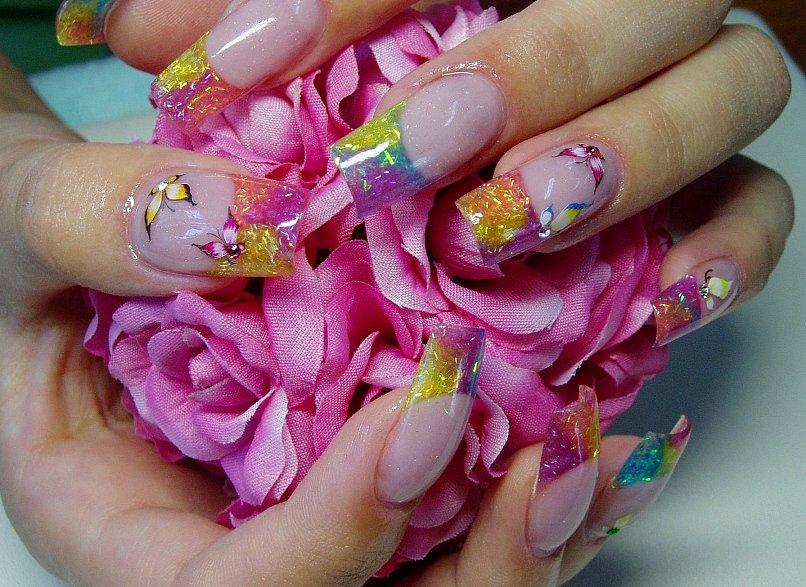 Нарощенные ногти французский маникюр