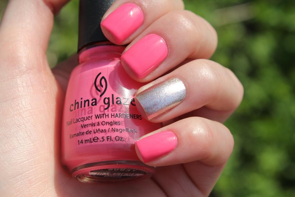 С чем сочетается розовый цвет маникюр