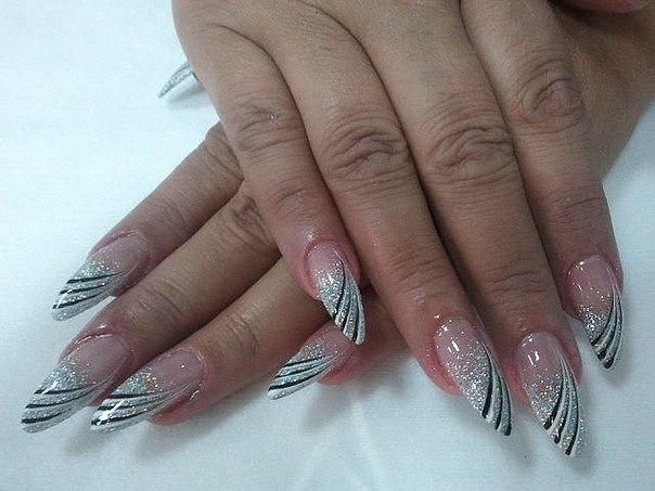 Дизайн гелевых ногтей новогодний