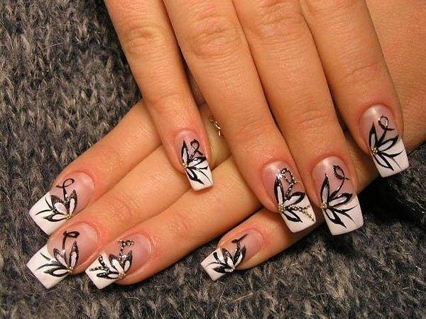 Ногти легкие рисунки