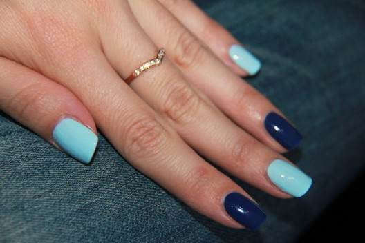Маникюр ногти разными цветами