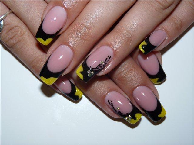 Фото ногтей с рисунками френч новинки яркие на короткие ногти