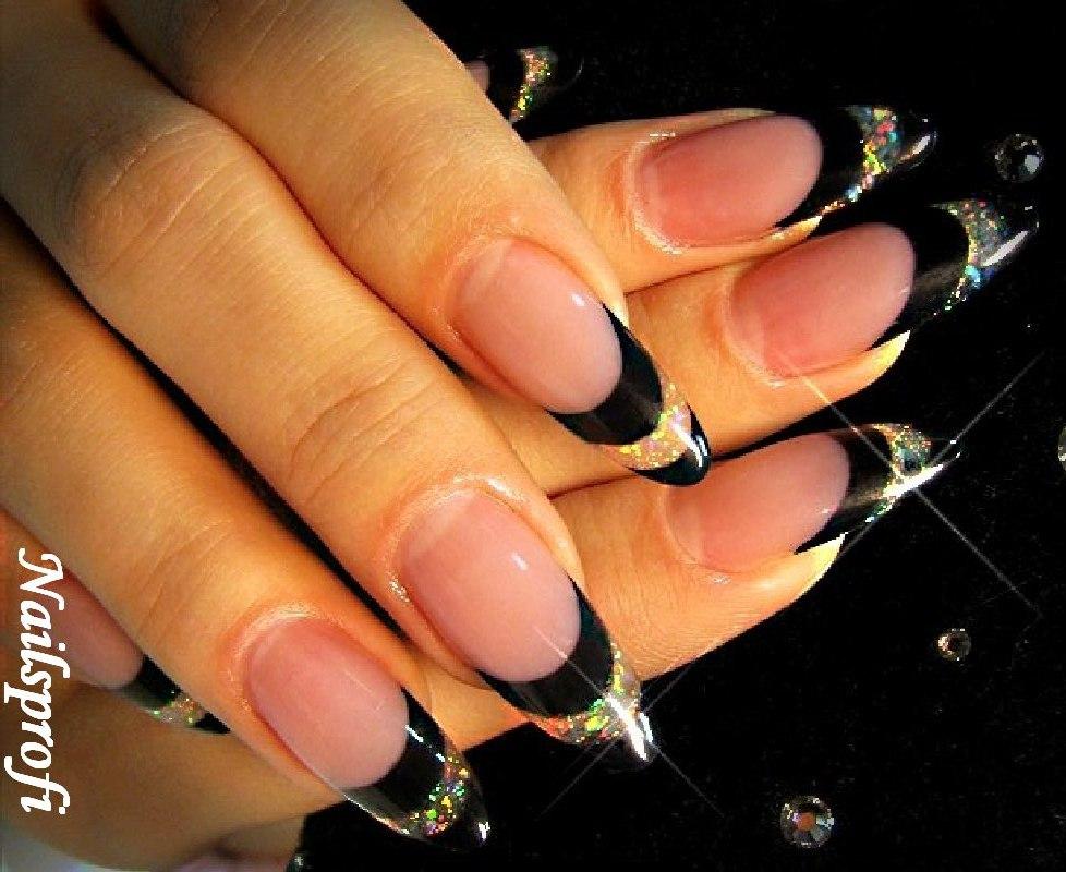 Нарощенные ногти дизайн френч овальные