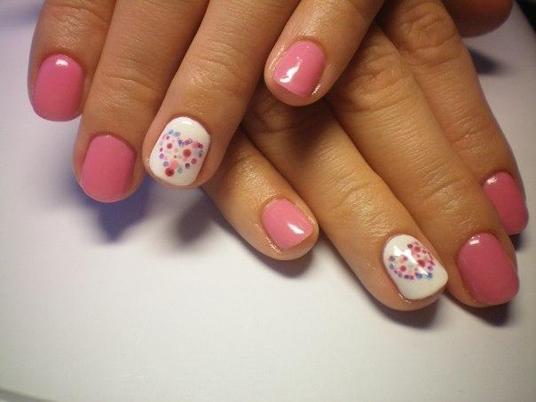 Дизайн ногтей на короткие ногти гель лаком фото
