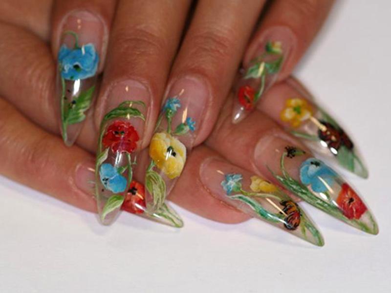 Ногти аквариумные рисунки на ногтях