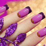 Фото фиолетовый лунный маникюр