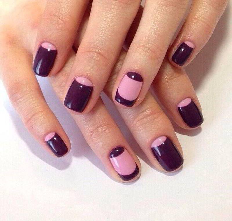 лунный фиолетовый маникюр